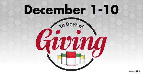 10 days of giving sponsored by Merchants Bank