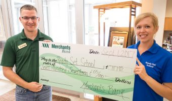 Merchants Bank St. Charles Donation Received