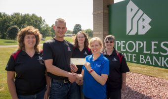 Peoples State Bank Altura Donation Received