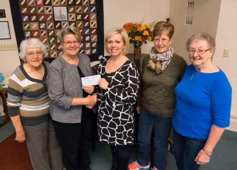 First Congregational Women's Fellowship Donation Check