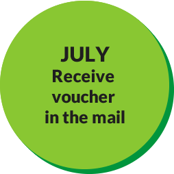 July Receive Voucher in the Mail